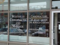 Store front for Westhills Chiropractic & Massage
