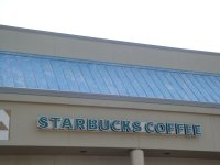 Store front for Starbucks Coffee in Safeway