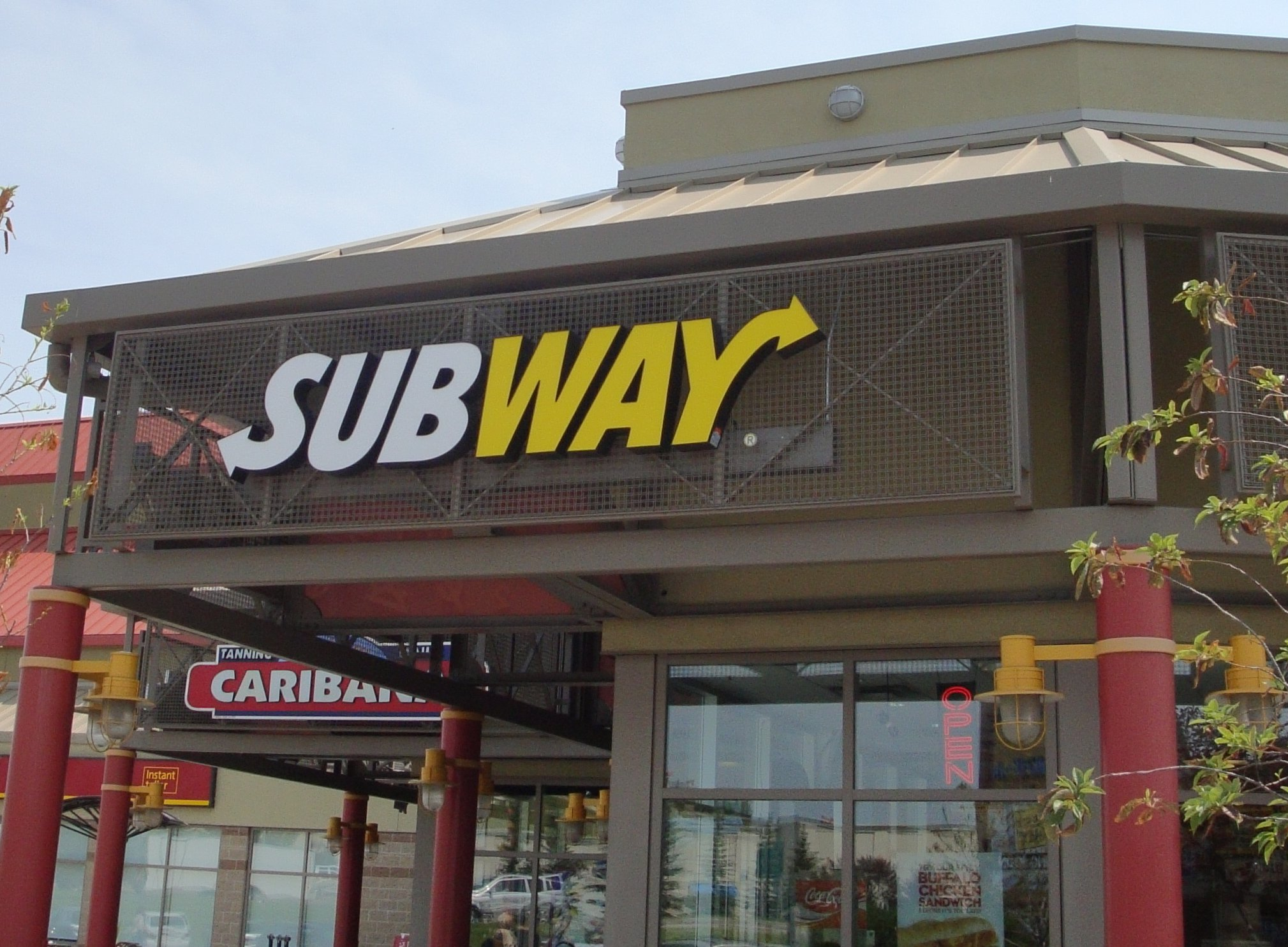 Store front for Subway