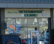 Store front for Westhills Veterinary Clinic